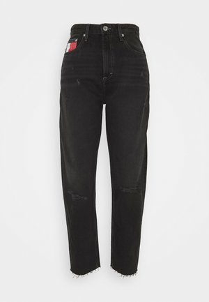 MOM ULTRA  - Džíny Relaxed Fit - black denim