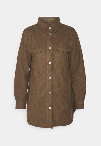 BYASJA SHIRT JACKET - Short coat - toffee melange