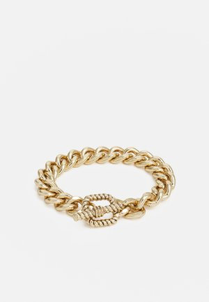 CHAIN BRACELET WITH TBAR TEXTURED CLASP - Pulsera - gold-coloured