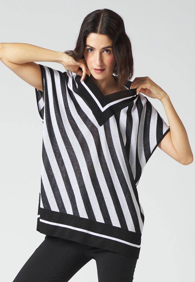Print T-shirt - bianco/nero