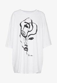 Monki - CISSI TEE  - T-shirts - white - 3