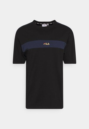 WARD DROPPED SHOULDER TEE - T-shirt med print - black/black iris