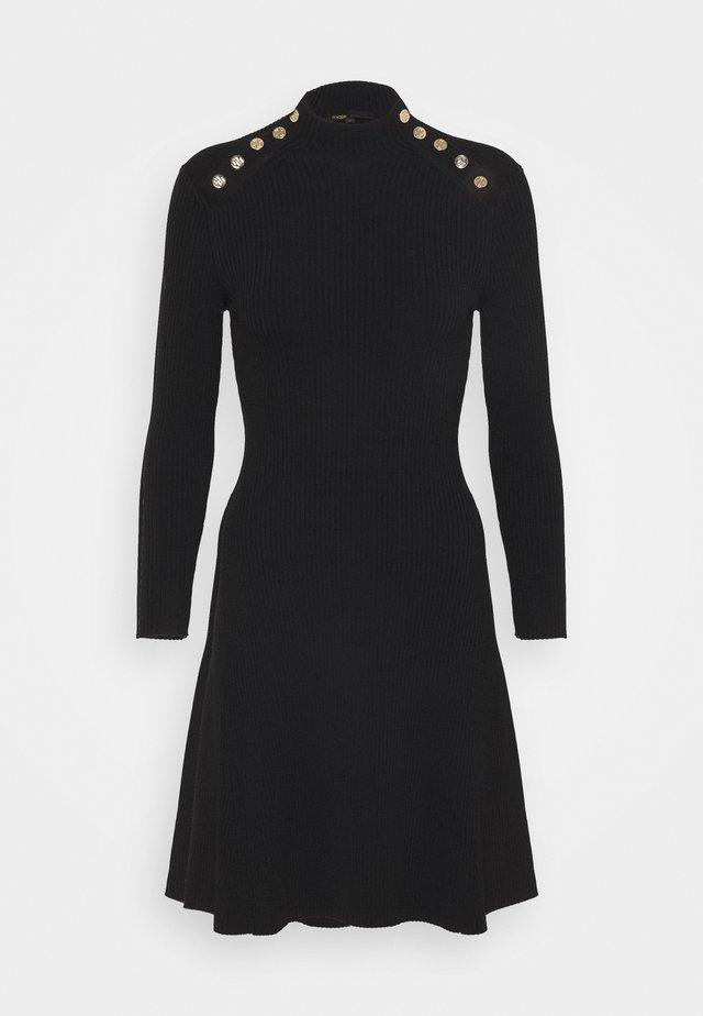 ROSEO - Gebreide jurk - noir