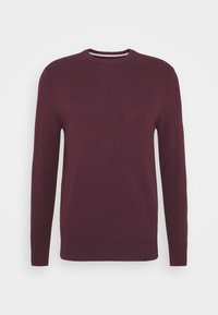 Burton Menswear London - FINE GAUGE CREW  - Maglione - burgundy - 4