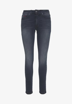 SYLVIA SUPER - Jeansy Skinny Fit - raven dark blue stretch