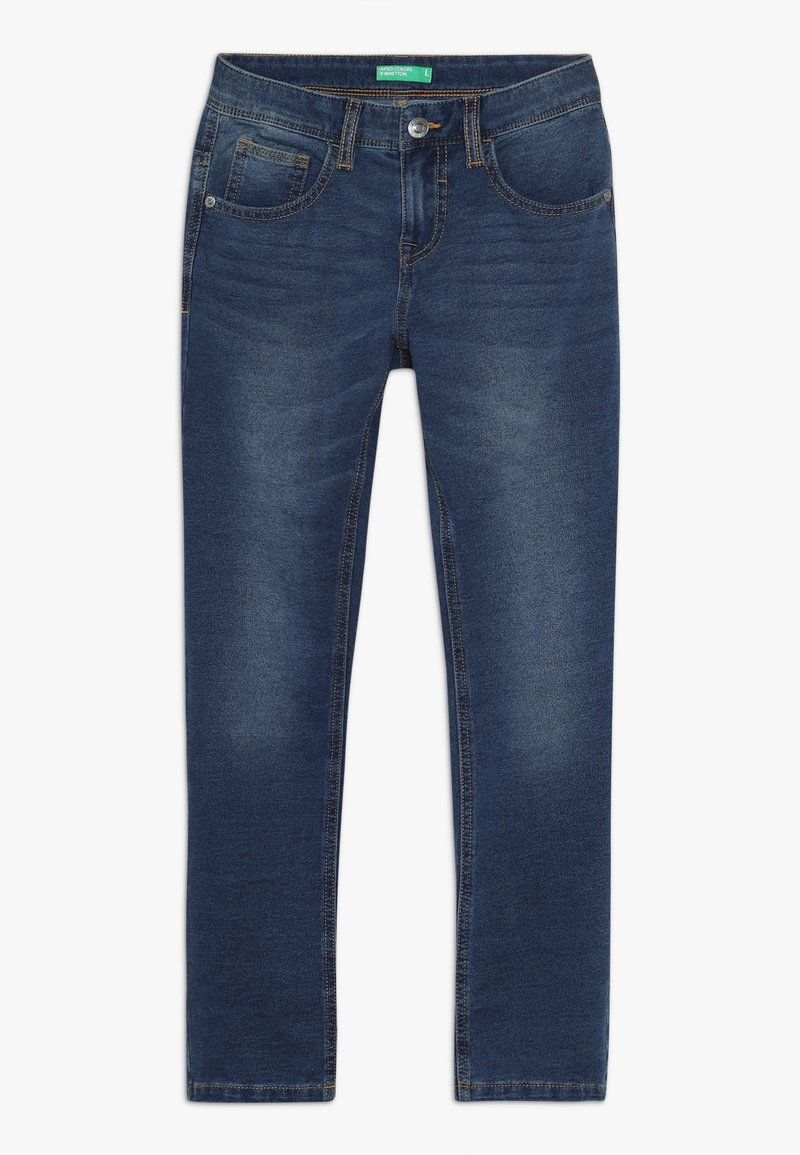 Benetton - TROUSERS - Relaxed fit jeans - blue denim