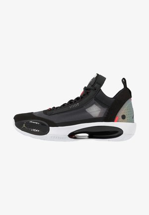 AIR XXXIV LOW - Indoorskor - black/metallic silver/white/red orbit