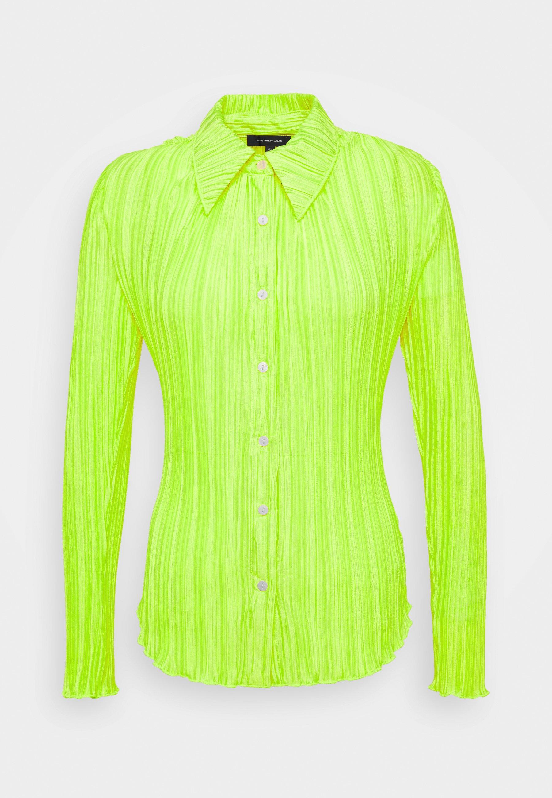 Who What Wear PLISSE Skjorte acid green Zalando.no