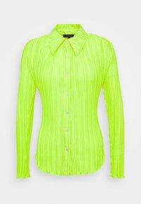 Who What Wear - PLISSE - Button-down blouse - acid green - 4