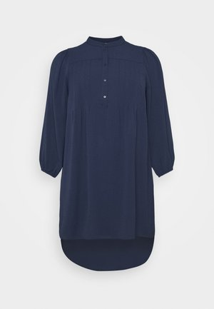 VMSAGA PLEAT SHORT DRESS  - Day dress - navy blazer