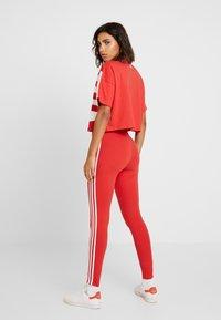 adidas Originals - Leggings - Trousers - lush red/white - 2