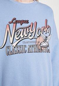 Even&Odd - Printed Crew Neck Sweatshirt - Sweatshirts - blue - 5