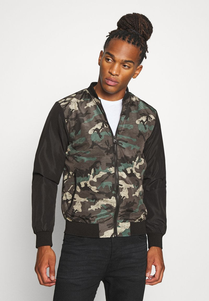 Brave Soul - BLAIR - Bomber Jacket - khaki/charcoal/black