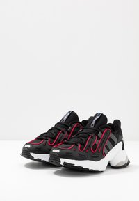 adidas Originals - EQT GAZELLE RUNNING-STYLE SHOES - Matalavartiset tennarit - core black/grey six/energie pink - 3