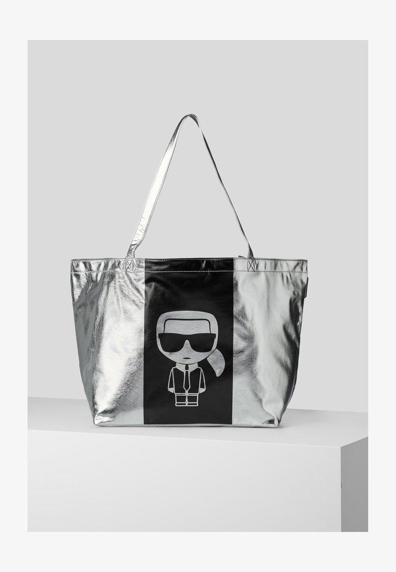 KARL LAGERFELD - Tote bag - silver
