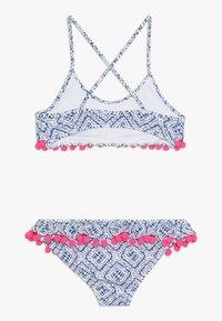 Sunuva - GIRLS SHIBORI POM POM FRILL - Bikini - blau - 1