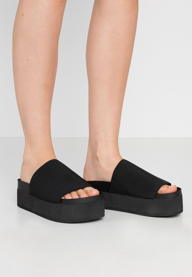 NORMA  - Heeled mules - black