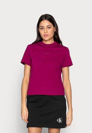 LOGO INTARSIE TEE - Basic T-shirt - purple