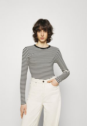 STRIPE MIX TUBA - Top s dlouhým rukávem - off white/black