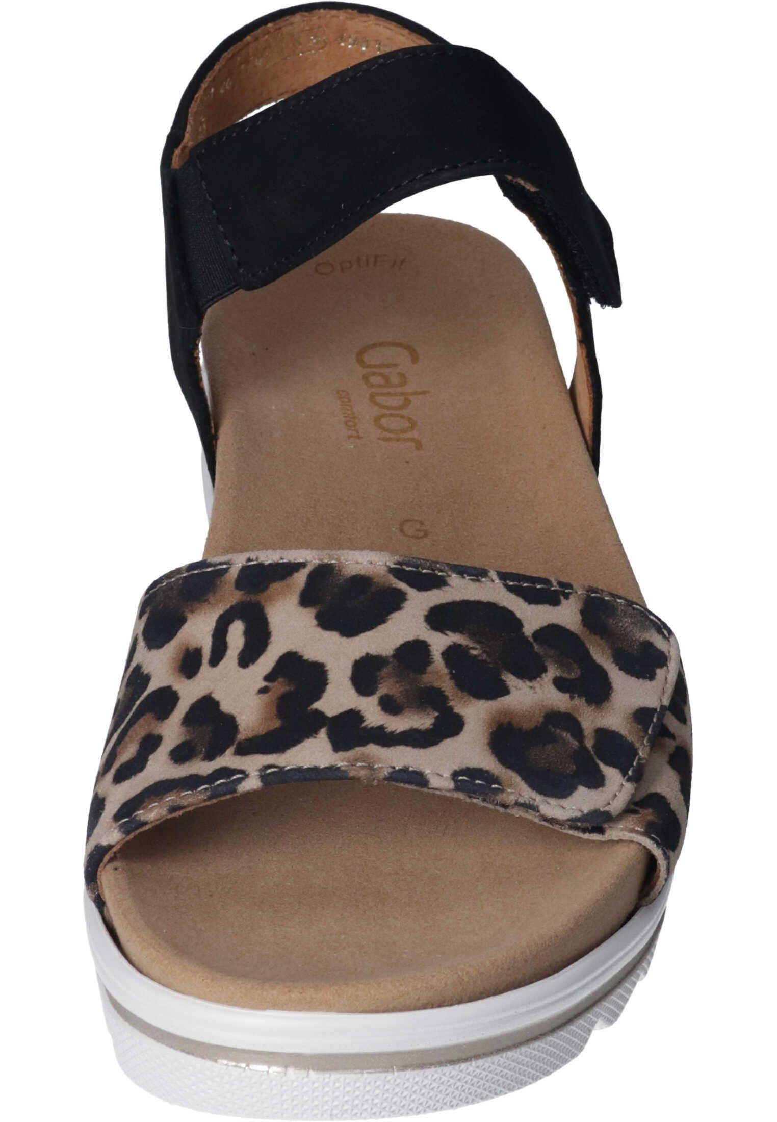 Sandaletter med kilklack naturschwarz
