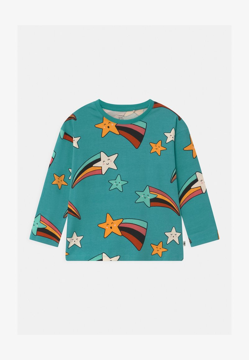 Lindex - MINI SHOOTING STARS UNISEX - Long sleeved top - dusty turqoise
