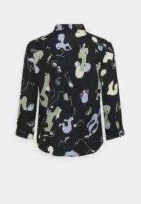 Monki - HELLA BLOUSE - Button-down blouse - black - 6