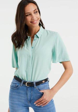 Button-down blouse - mint green