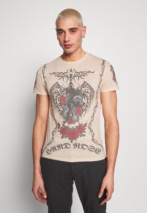 TATTOO - T-shirt imprimé - beige