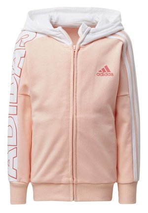 BRANDED KNIT JACKET - Felpa aperta - pink