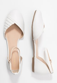 Anna Field - LEATHER ANKLE STRAP BALLET PUMPS - Ankle strap ballet pumps - white - 3