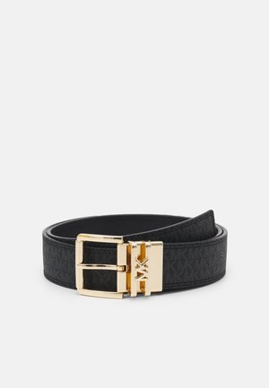 LOGO REVERSIBLE BELT - Gürtel - black/silver
