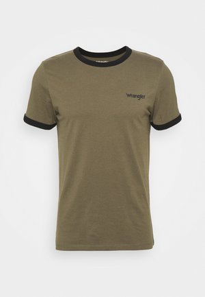 RINGER TEE - Print T-shirt - olive green