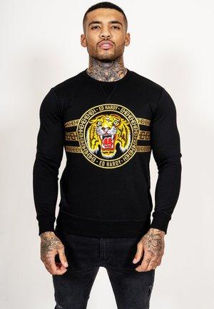 TIGER STRIPE CREW SWEAT - Sweater - black