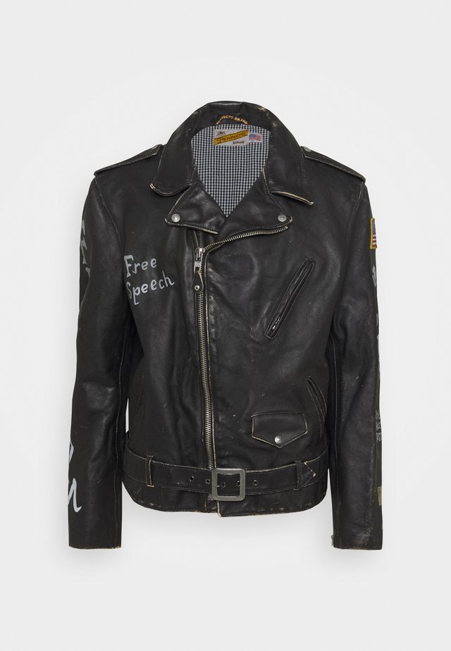 PER - Leather jacket - black
