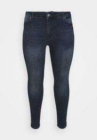 Pieces Curve - PCDELLY  - Jeans Skinny Fit - dark blue denim - 4