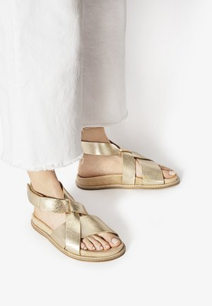 Ankle cuff sandals - mntrl gold ngl