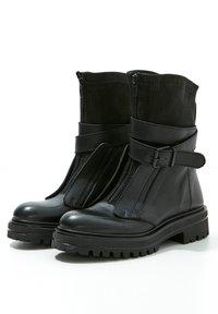 Inuovo - Cowboy- / bikerstøvlette - black blk - 3