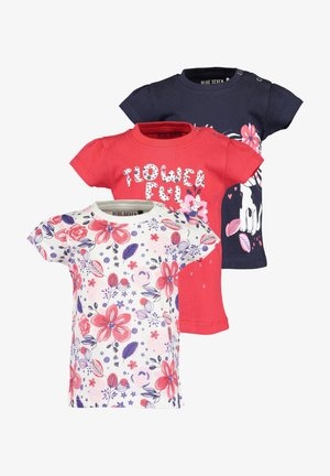 LIFE IS FLOWERFUL - Print T-shirt - red