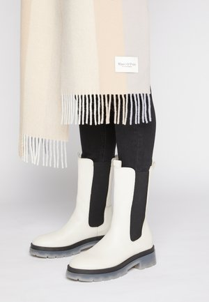 FILIPPA  - Platform boots - offwhite/translucent