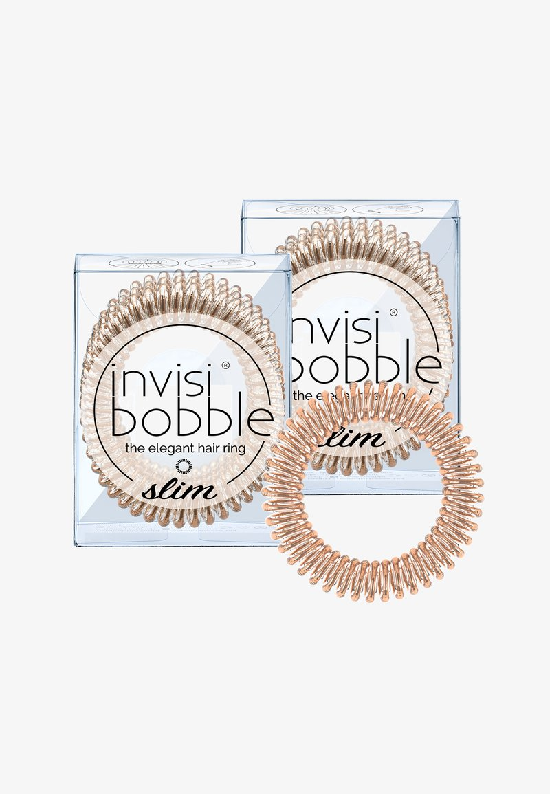 Invisibobble - SLIM HAARGUMMI 2 PACK - Hårstyling-accessories - bronze me pretty