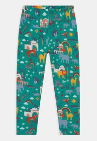 Frugi - LIBBY PRINTED ANIMALS - Leggings - Trousers - green - 0