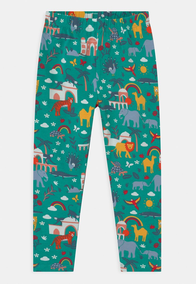 Frugi - LIBBY PRINTED ANIMALS - Leggings - Trousers - green