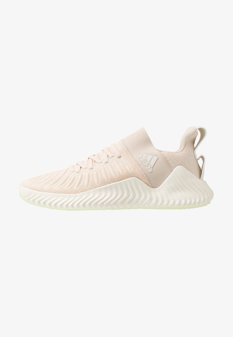 adidas Performance - ALPHABOUNCE TRAINER  - Sportovní boty - core white/glow green