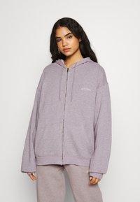 BDG Urban Outfitters - ZIP HOODIE - Zip-up hoodie - grey lavendar - 0