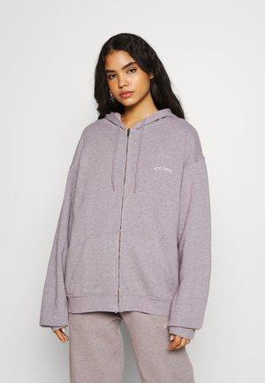 ZIP HOODIE - veste en sweat zippée - grey lavendar