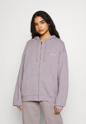 ZIP HOODIE - Tröja med dragkedja - grey lavendar