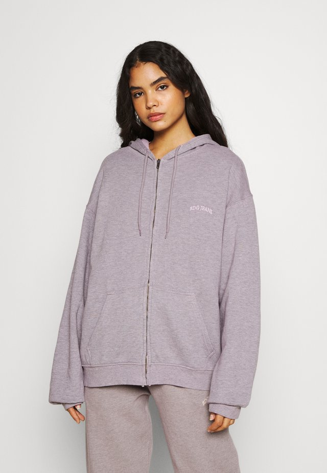 ZIP HOODIE - Collegetakki - grey lavendar