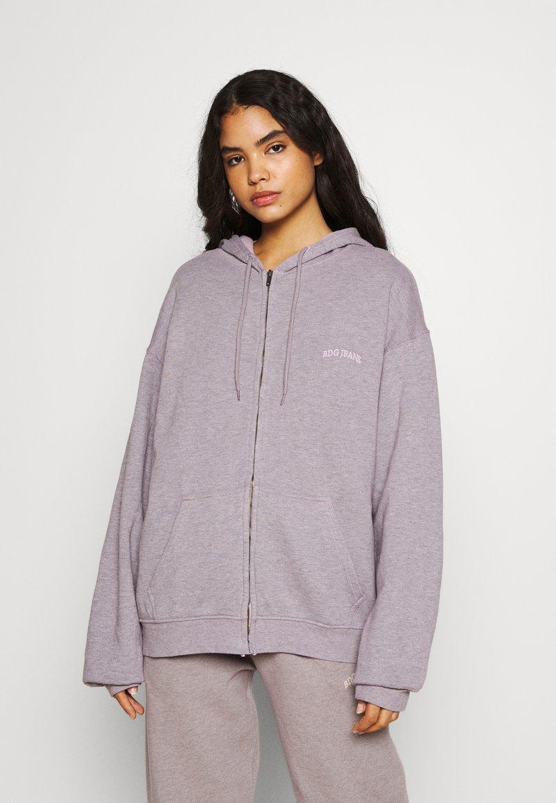 BDG Urban Outfitters - ZIP HOODIE - Zip-up hoodie - grey lavendar