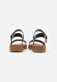 New Look Wide Fit - WIDE FIT FRANKIE - Sandalias de cuña - black - 3