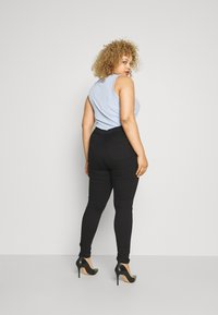 Even&Odd Curvy - JEGGING - Jeans Skinny Fit - black denim - 1